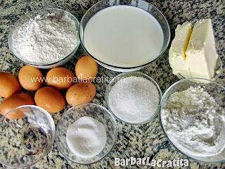 Cremsnit - toate ingredientele retetei
