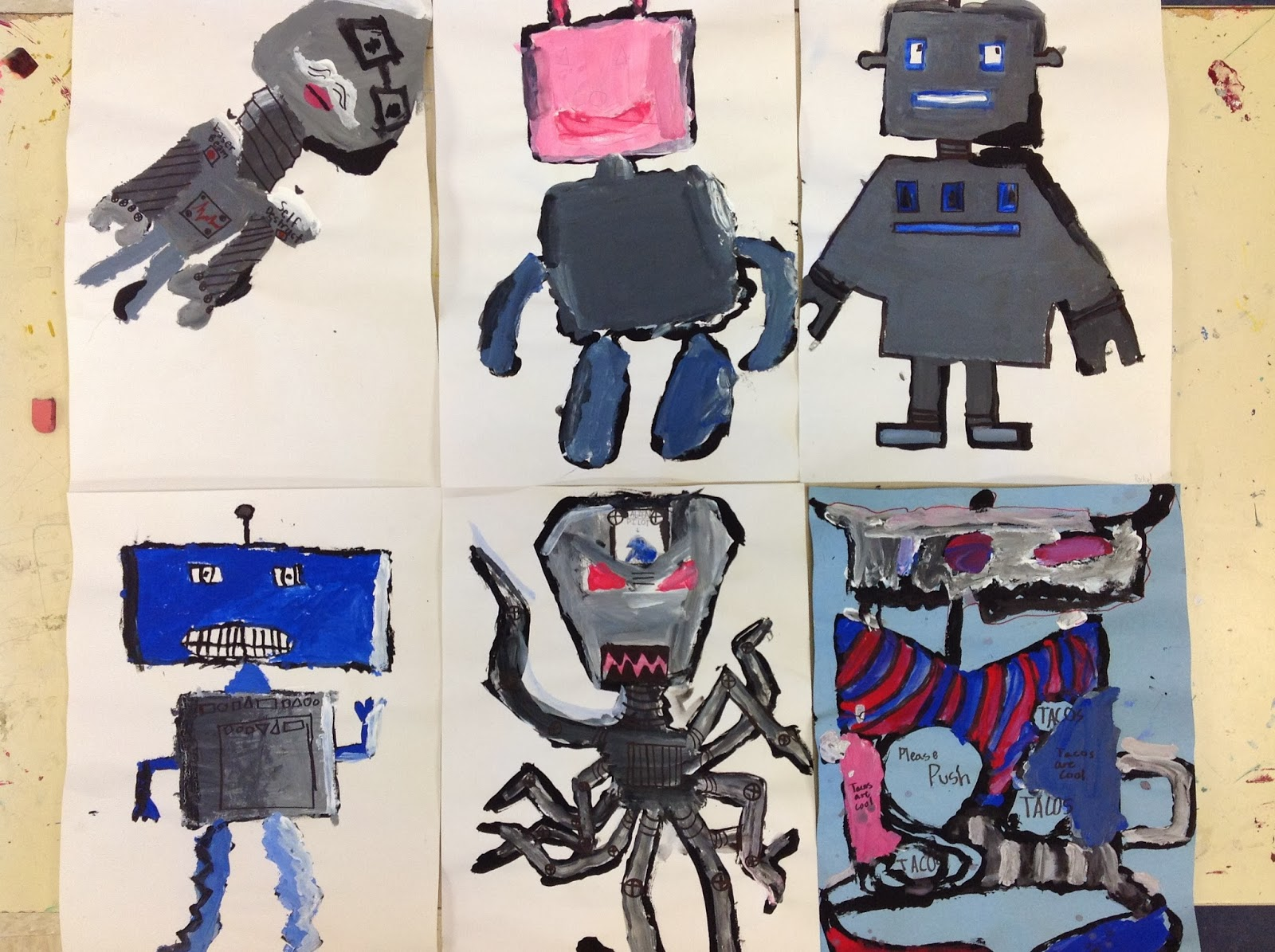 Fourth Grade Color Mixing Value Robots