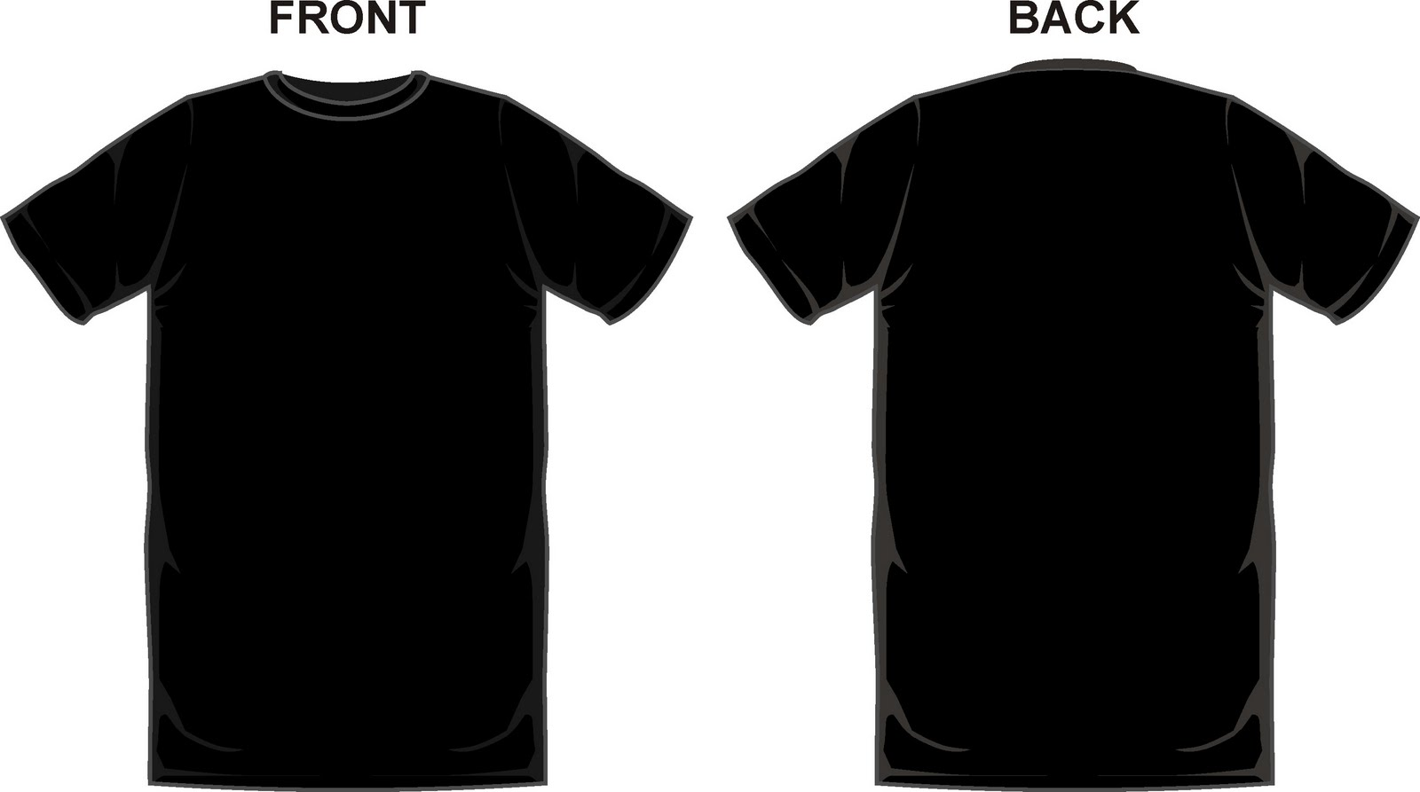 blank black t shirt design template
