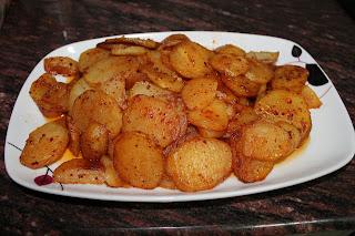 Patatas rojas.