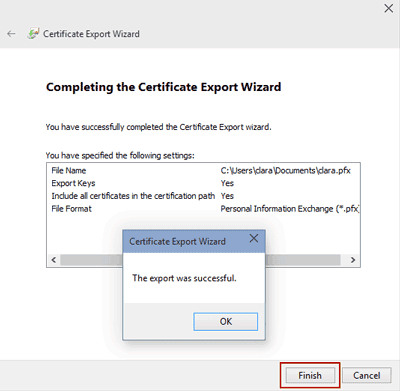 complete backing up file encryption certificate