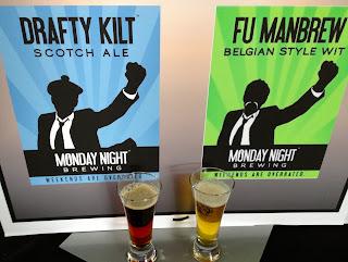 Drafty Kilt Scotch Ale and Fu Manbrew Wit