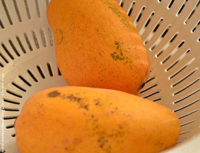 mango manga mambazham recipe pulisseri kozhambu kolambu cooked yogurt curry