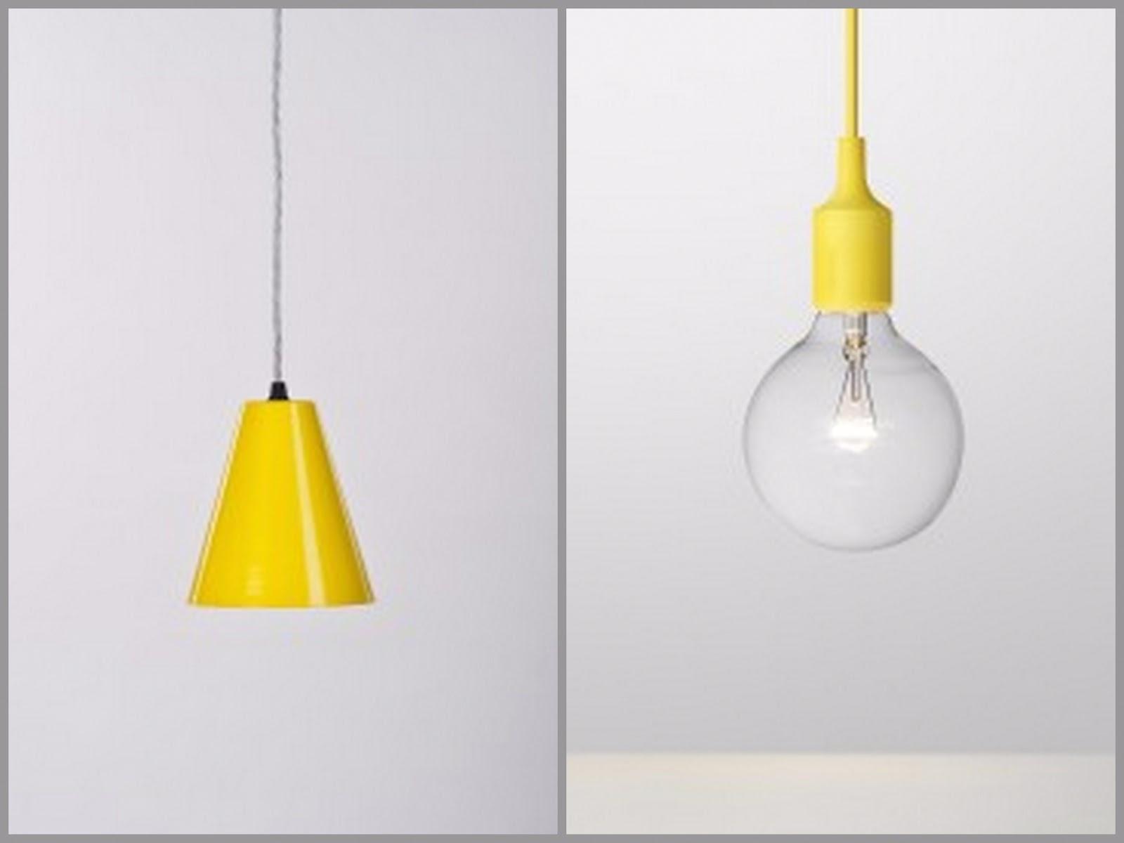 Yellow U0027Triangleu0027 Pendant Light By By Workroom Design And Yellow E27 Pendant  Light By Mattias Ståhlbom For Muuto