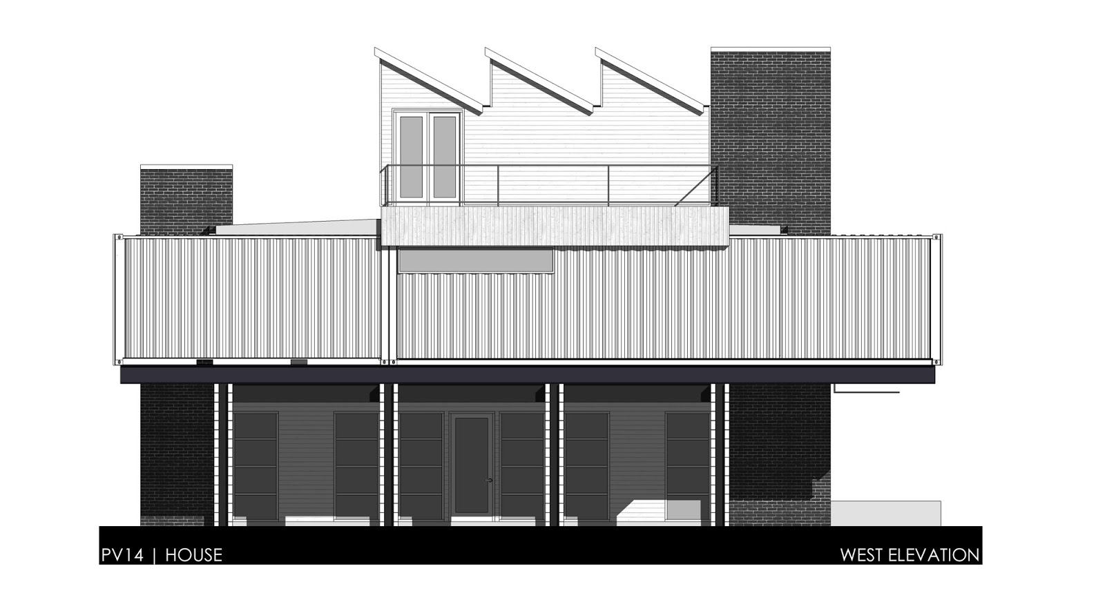 Shipping container homes pv14 two story container home for Shipping container home plans 2 story