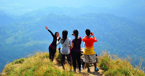 Mountain hiking in the Philippines