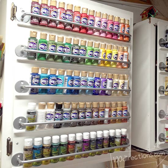 How To Organize Craft Paint On A Cabinet Door