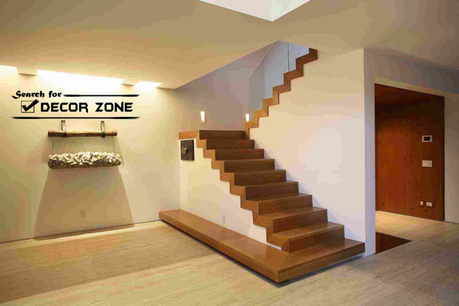 Simple Wooden Staircase Without Railings