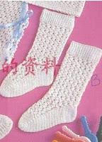 Вязаные ажурные носки вязанные крючком