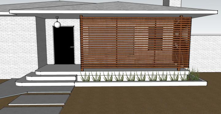 Diy una pared de listones de madera para el porche - Listones de madera para exterior ...