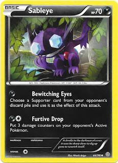 Sableye Ancient Origins Pokemon Card