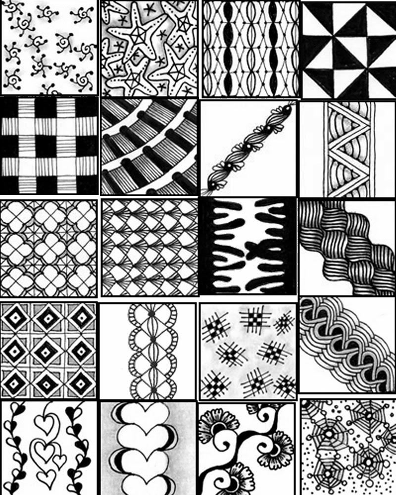 Intrepid image with printable zentangle patterns