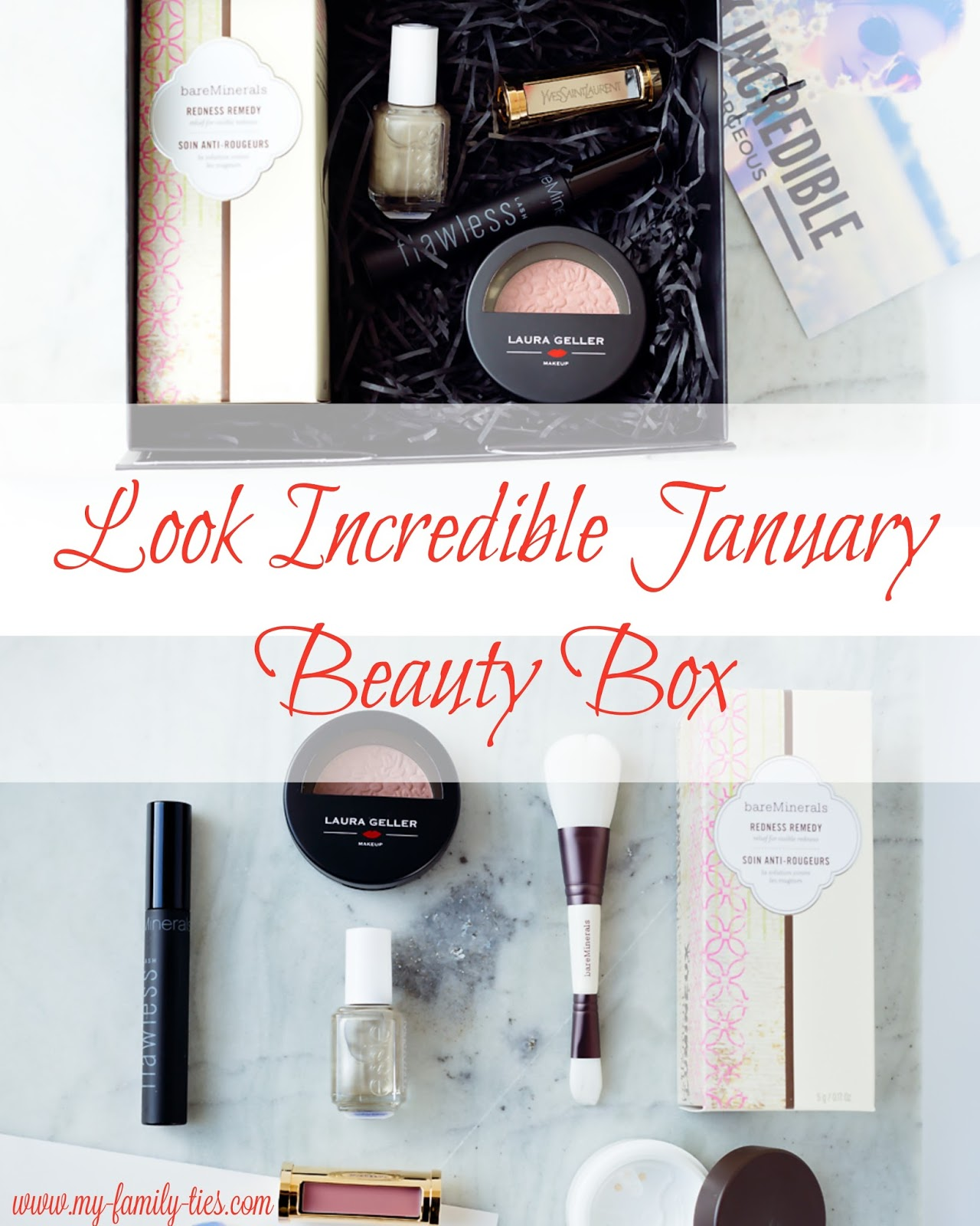 Look incredible Beauty Box Review January - Photos By My Family Ties Blog www.my-family-ties.com