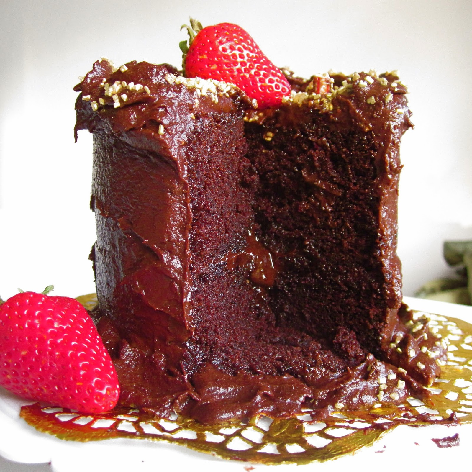 Mini 4-Inch Double Chocolate Layer Cake For Two - Lindsay Ann Bakes