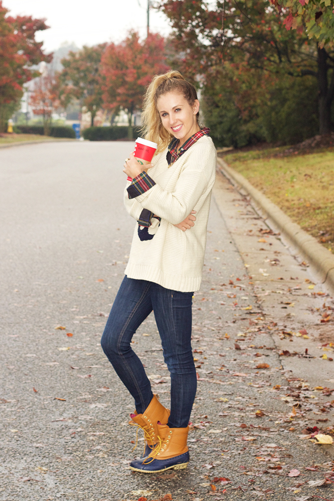 sweater-layers-and-duck-boots