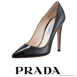 Queen Letizia Style - PRADA Pumps and ADOLFO DOMINGUEZ Clutch Bag