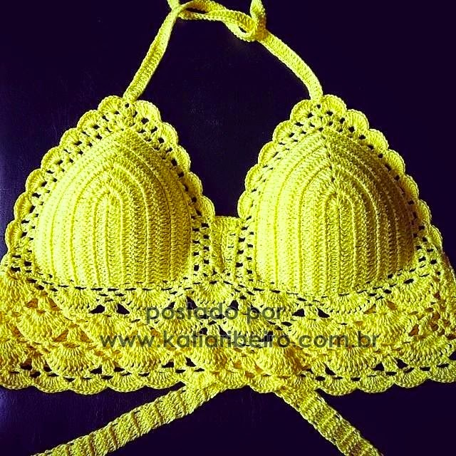Cropped De Croche Com Grafico