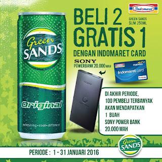 Info Promo - Promo Green Sands Berhadiah  100 bh Powerbank Sony 20.000 MAh