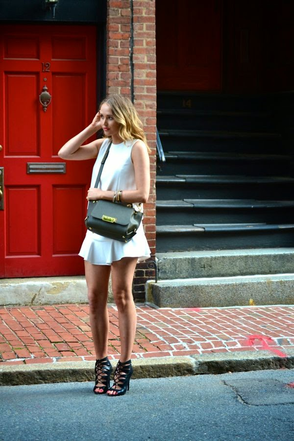 BCBG Vivienne Dress- Almay Smart Shade- Gorjana Earrings-Zac Posen Crossbody Bag-Lulus.com Shoes