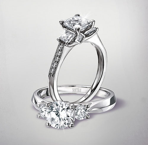 wedding band vs engagement ring image - Wedding Ring Vs Engagement Ring