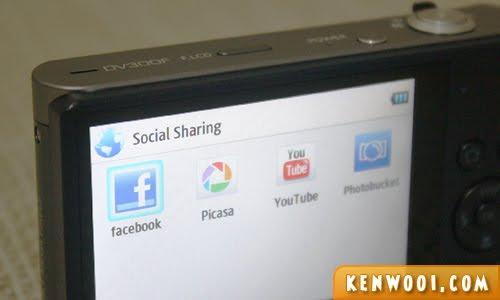 samsung dv300f social sharing
