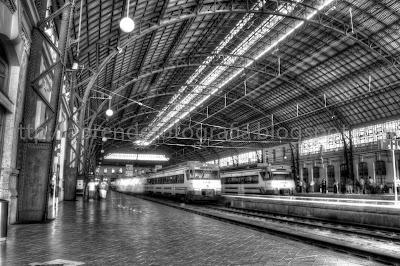 estación del norte hdr en blanco y negro