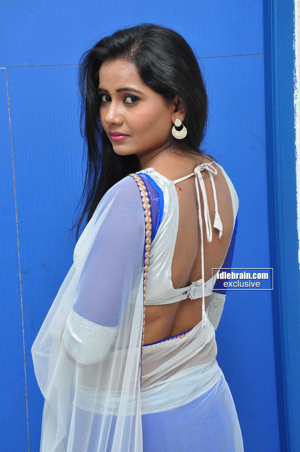 MTV VJ Anusha poses for photos during her recent visit to ...
