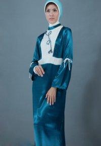Manet Gamis - 3098 Turqis Tua (M) (Toko Jilbab dan Busana Muslimah Terbaru)