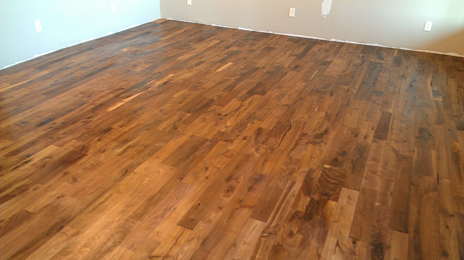 Dark Wood Floor Perspective