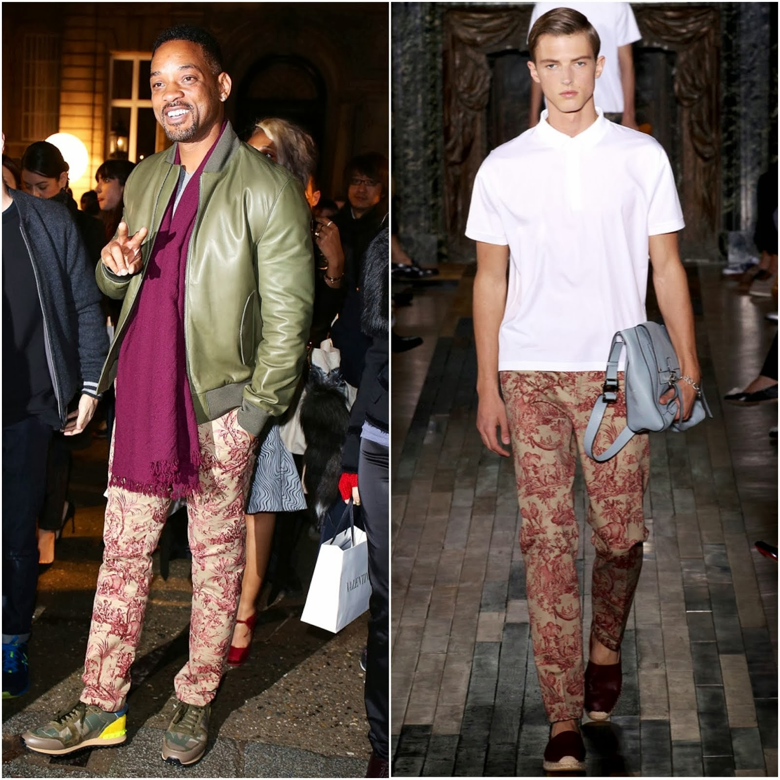 Will Smith in Valentino - Valentino Menswear Fall Winter 2014 Show #PFW