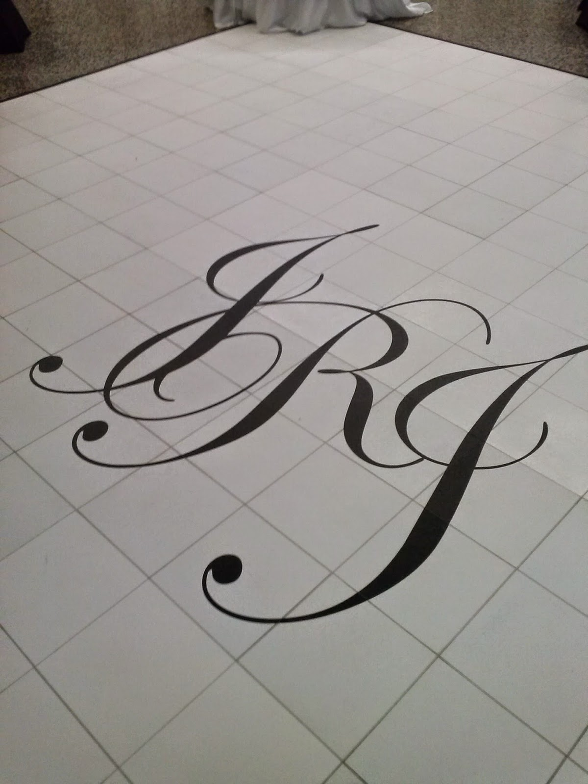 Custom Wedding Dance Floor Monogram