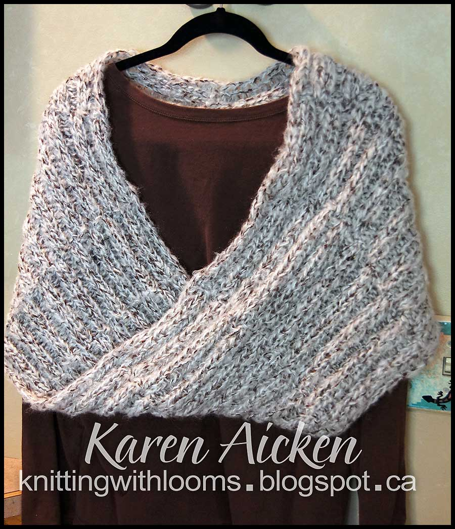 Loom Knit Shawl Pattern : Knitting With Looms: Finished Mobius Shawl