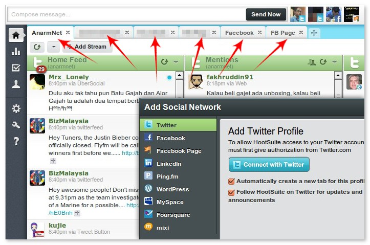 hootsuite social networks