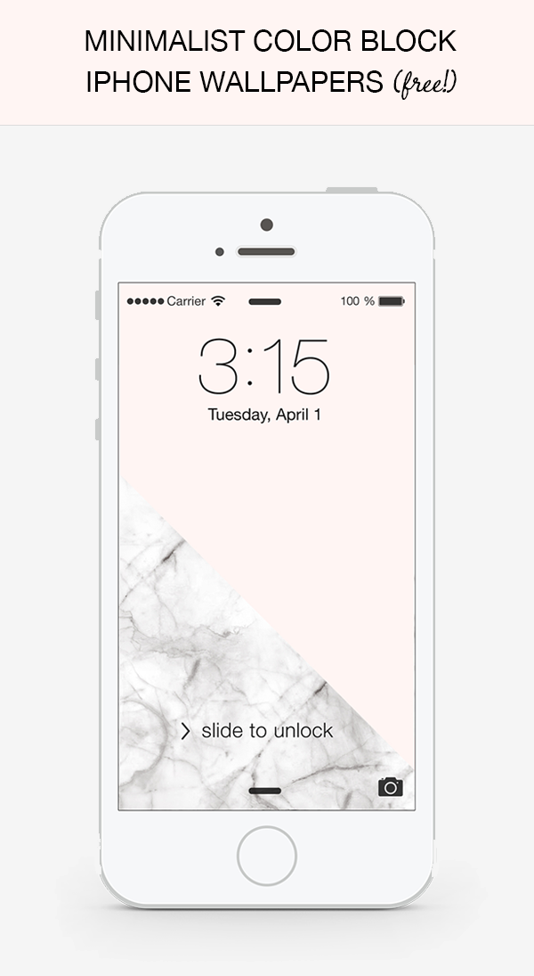 Oh The Lovely Things Free Minimalist Color Block Iphone Wallpapers