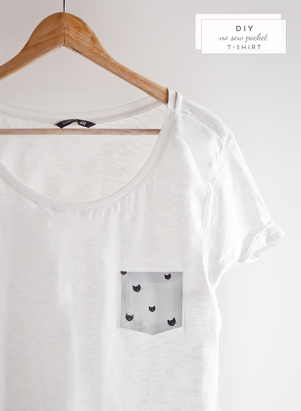 Super Oh the lovely things: 10 Minutes DIY: No Sew Pocket T-Shirt LL32
