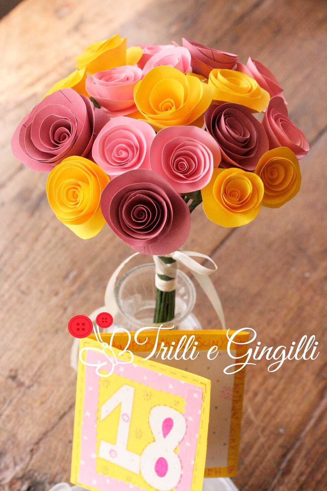 Popolare Trilli e Gingilli - Le creazioni di Sara: Mazzo di fiori di carta  MK58