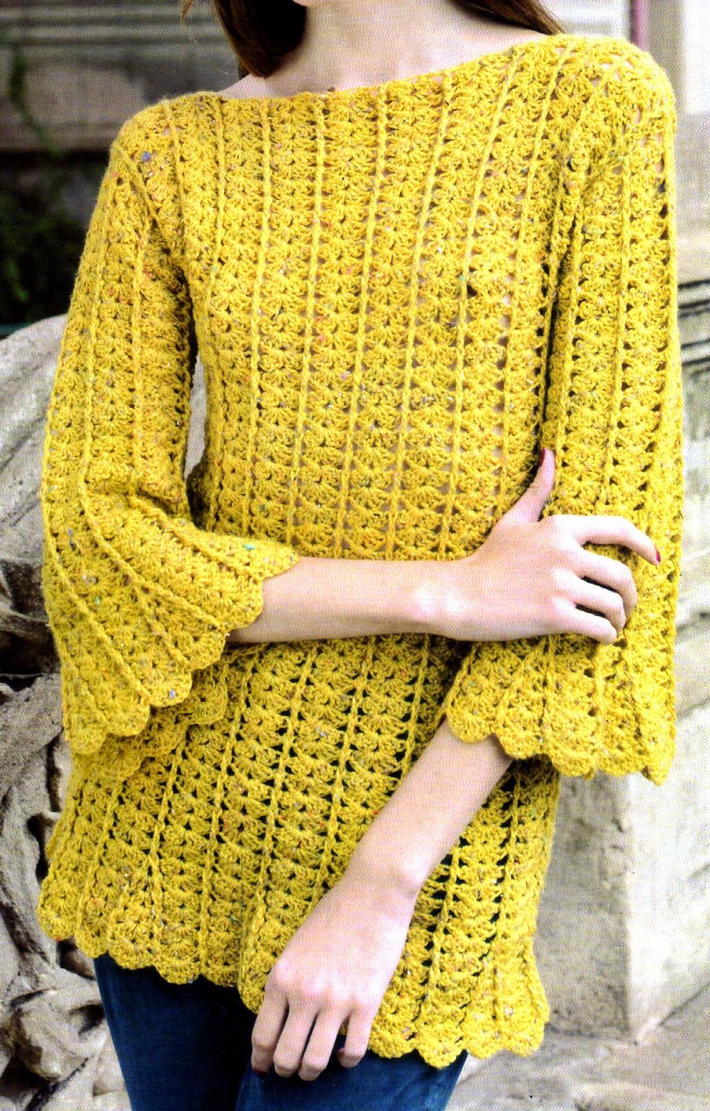 tejidos artesanales en crochet  pullover tejido en gajos 9c904f6d0469
