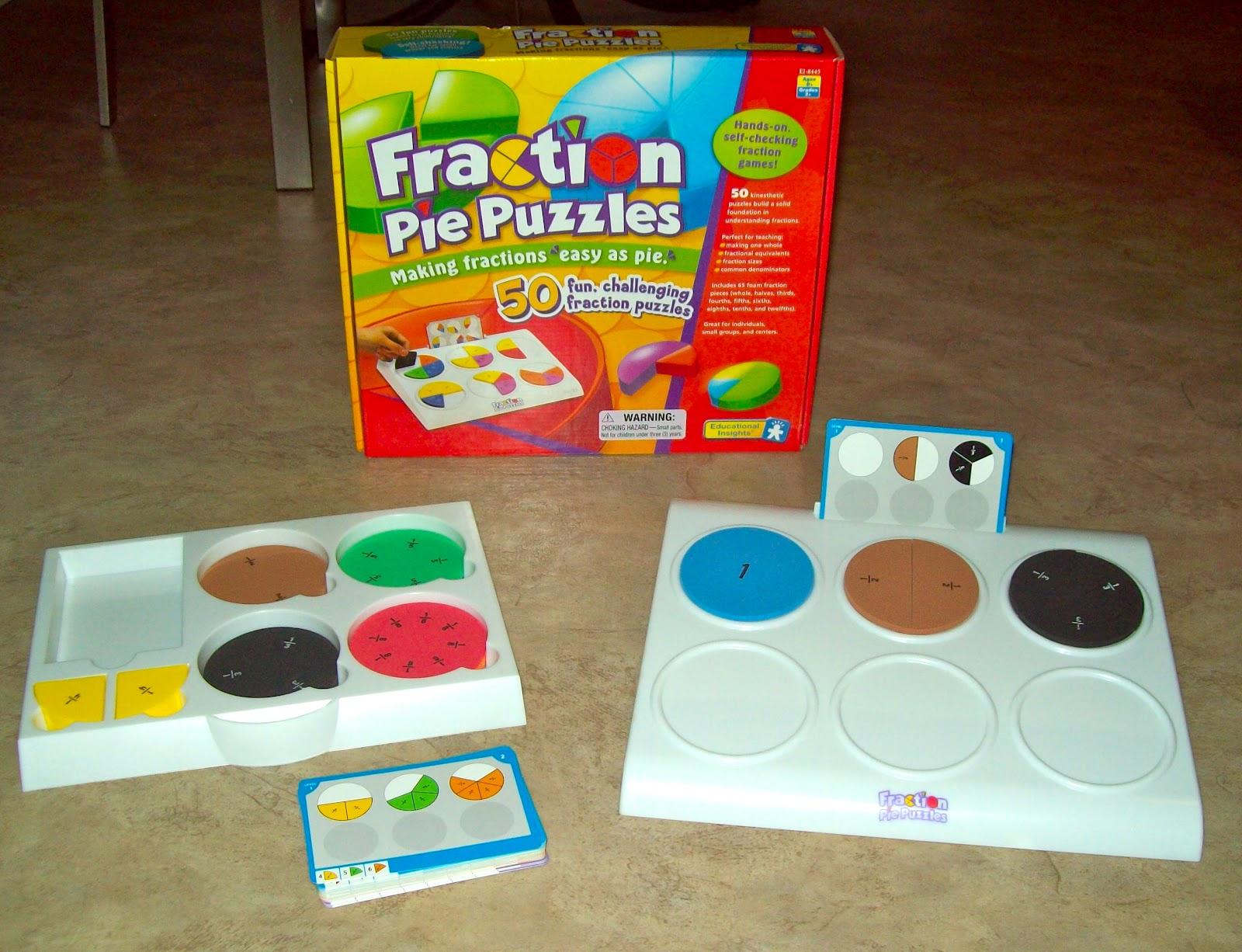 Fraction Pie Puzzles Your Fraction Pie Puzzles