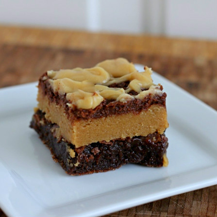 ... Desserts --- Printable Recipes: Peanut Butter Cookie Dough Brownies