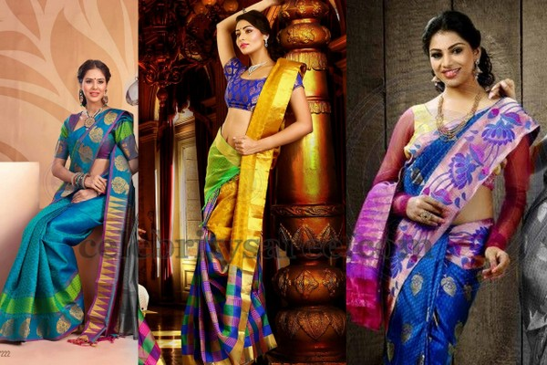 Purple Shade Bridal Sarees