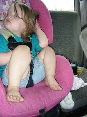 Asleep in Carseat