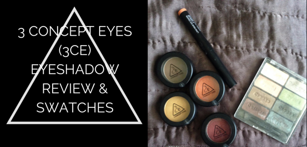 3CE Eyeshadow Review Swatches
