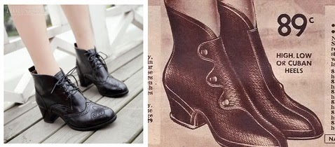cheap 1940s style womens boots