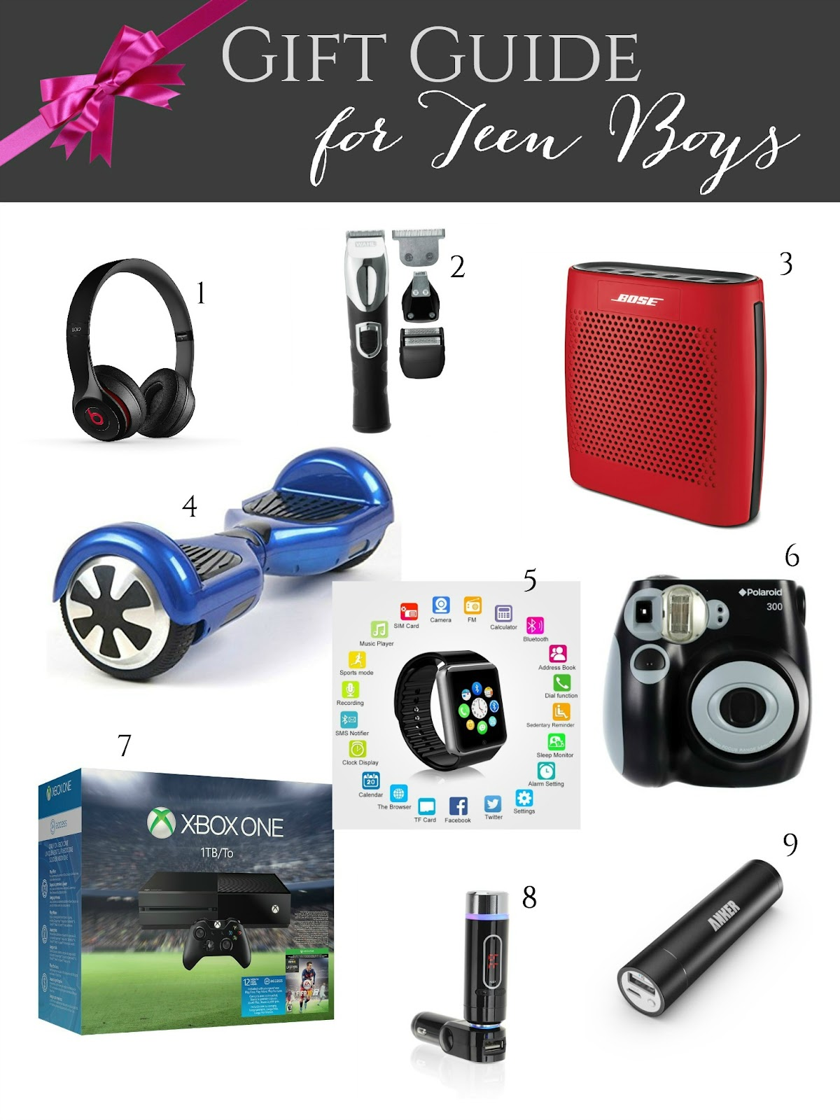 Gift guide for teen boys giveaways galore evolution for Cool things to get your boyfriend for christmas