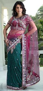 Latest design choli saree