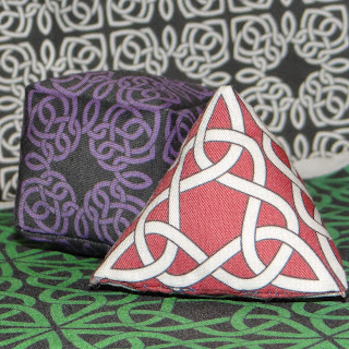 Tetrahedron and Cube- Hand sewn