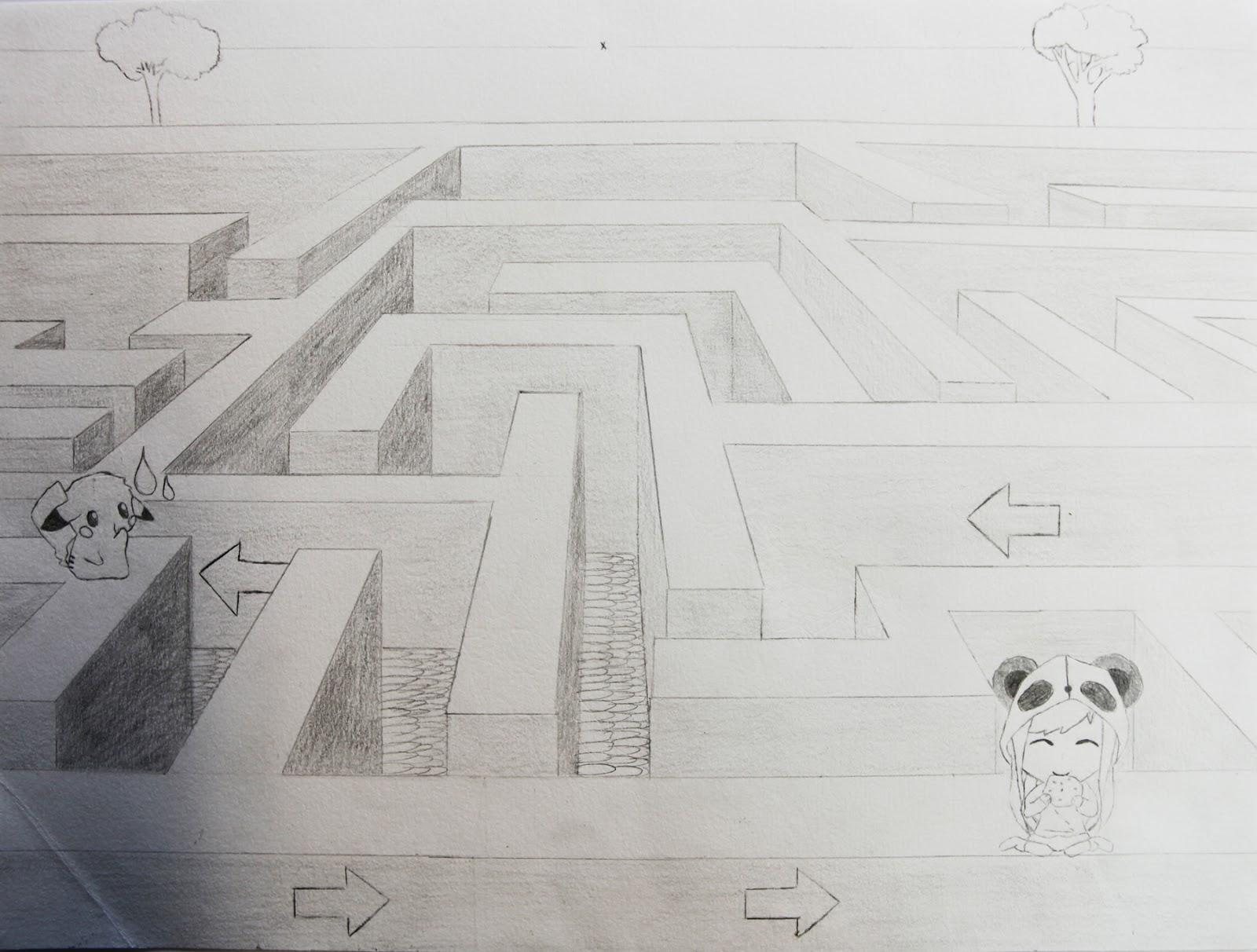 Artpla33 Le Labyrinthe Et Le Dessin En Perspective
