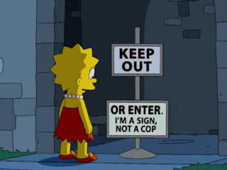 keep out or enter, im a sign not a cop
