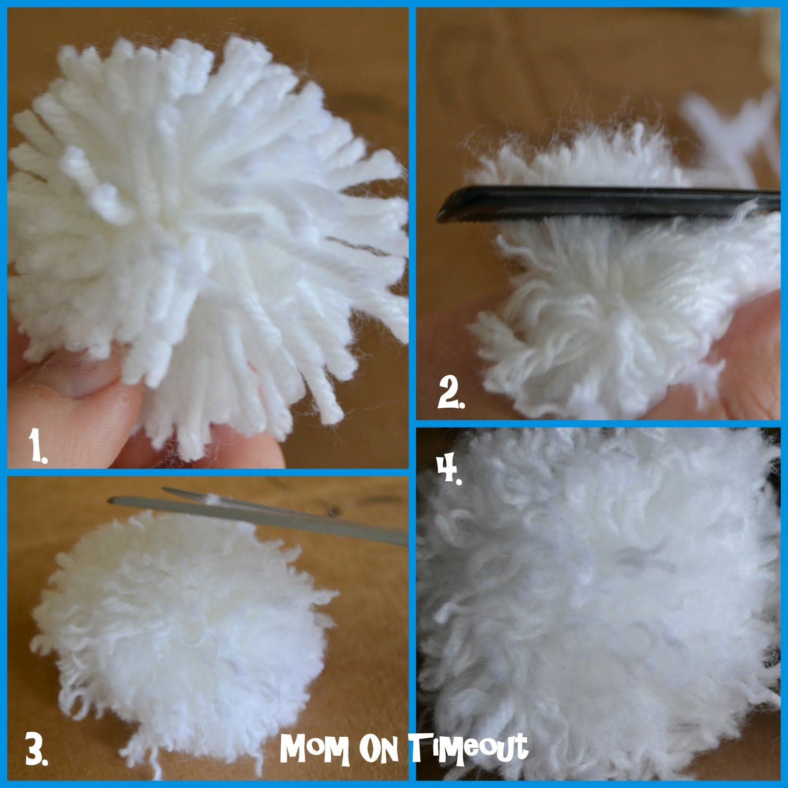 pom tutorial Are you looking to make a big, floppy yarn pom to adorn the top of a hat in this tutorial, i'll share with you how i made the one for my daughter's newest hat, the knit-look super bulky slouch (shown below).