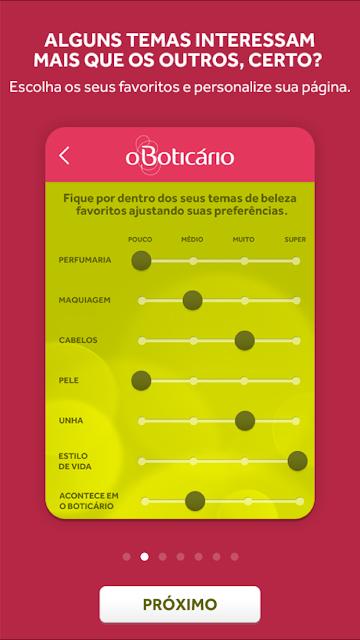 Novo aplicativo de beleza do O Boticário